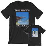 GUESS THAT PENGUIN Unisex Short-Sleeve T-Shirt Black