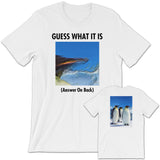 GUESS THAT PENGUIN Unisex Short-Sleeve T-Shirt White
