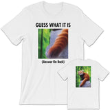GUESS THAT RED PANDA Unisex Short-Sleeve T-Shirt White