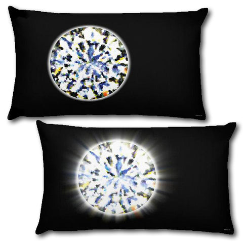 "DIAMOND Reversible Decorative Throw Pillow 20""x12"""