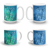 ELEPHANTS Double-Sided Coffee Mug Tea Cup 11oz & 15oz