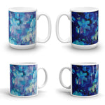 ABSTRACT BLUE 1 - Double-Sided Coffee Mug Tea Cup 11oz & 15oz