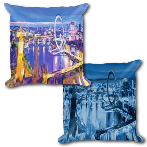 LONDON EYE Reversible Decorative Throw Pillow 18""