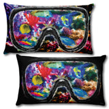 "CORAL REEF Reversible Decorative Throw Pillow 20""x12"""