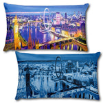 "LONDON EYE Reversible Decorative Throw Pillow 20""x12"""