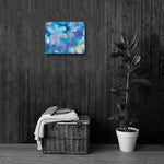 ABSTRACT BLUE 1 - Painting Canvas Print 12x12 to 36x24