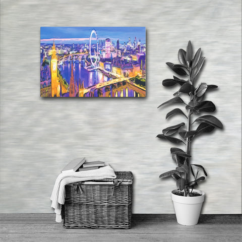 LONDON EYE Painting Canvas Print 16x12 to 36x24