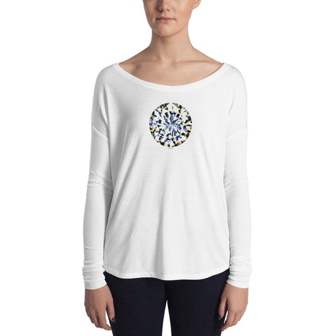 DIAMOND LOVE Women's Flowy Long Sleeve Tee - Size S-XL - 1 Color