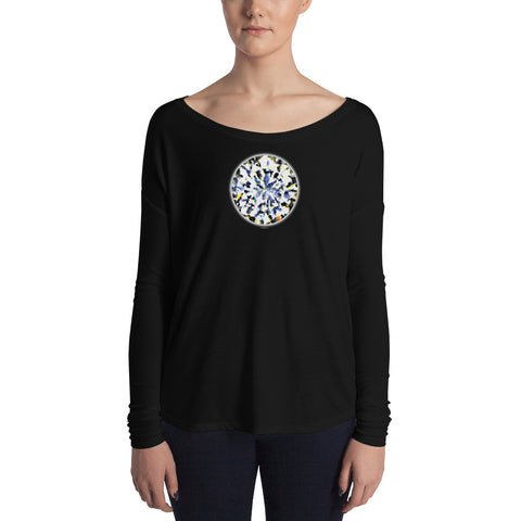 DIAMOND LOVE Women's Flowy Long Sleeve Tee - Size S-XL - 2 Colors