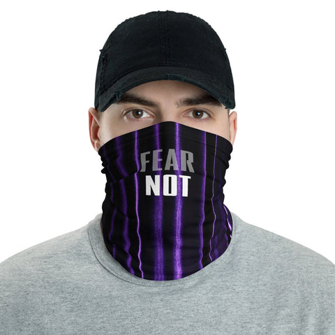 FEAR NOT - PURPLE Face Cover - Unisex - 1 Size - 1 Color