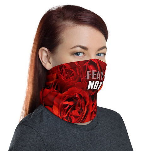 FEAR NOT - RED ROSES Face Cover - Unisex - 1 Size - 1 Color