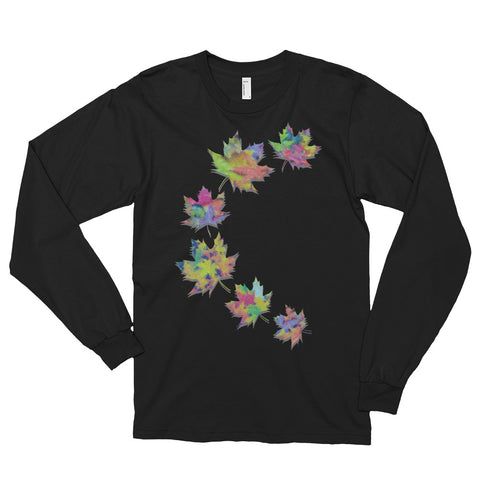 FALL LEAVES Unisex Long Sleeve T-Shirt - Size S-XL - 2 Colors