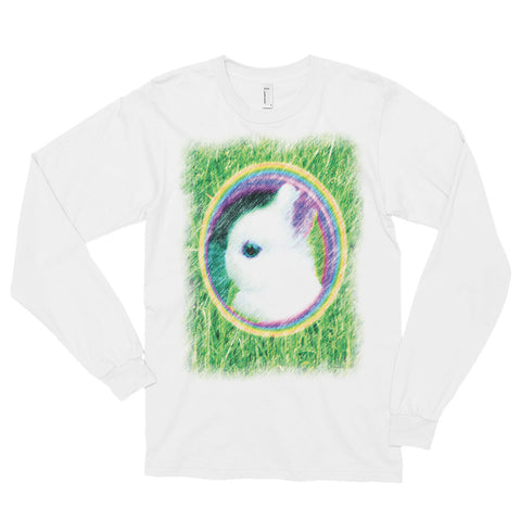 RAINBOW BUNNY Unisex Long Sleeve T-Shirt - Size S-XL - 1 Color