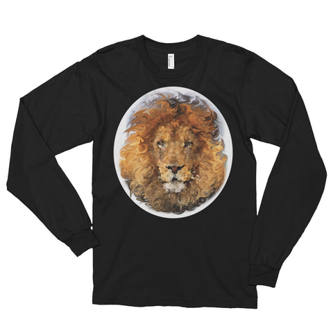 LION Unisex Long Sleeve T-Shirt - Size S-2XL - 4 Colors