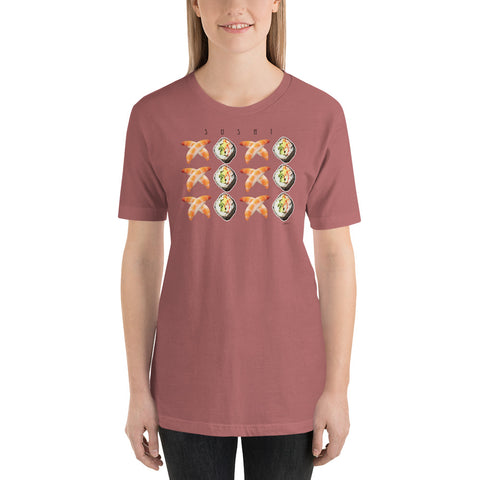 SUSHI LOVE XOXO Unisex Short-Sleeve T-Shirt - Size S-XL - 7 Colors