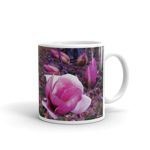 BLOOM MAGENTA Double-Sided Coffee Mug Tea Cup 11oz & 15oz