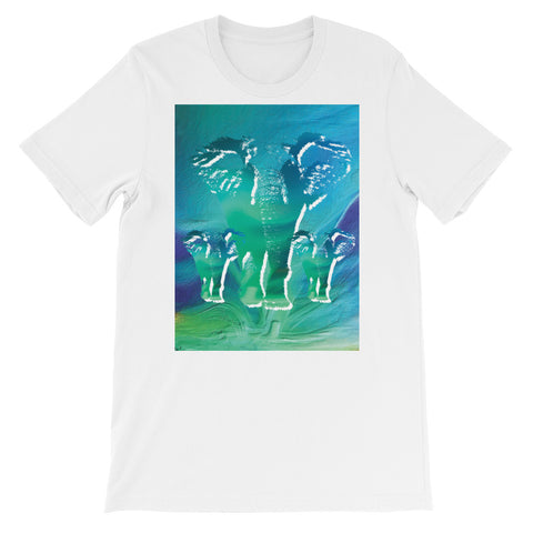 NORTHERN LIGHTS ELEPHANTS Unisex Short-Sleeve  T-Shirt - S-XL - 13 Colors