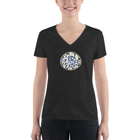 DIAMOND LOVE Women's Fashion Deep V-neck Tee - Size S-XL - 2 Colors