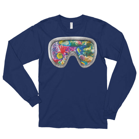 CORAL REEF Unisex Long Sleeve T-Shirt - Size S-XL - 3 Colors