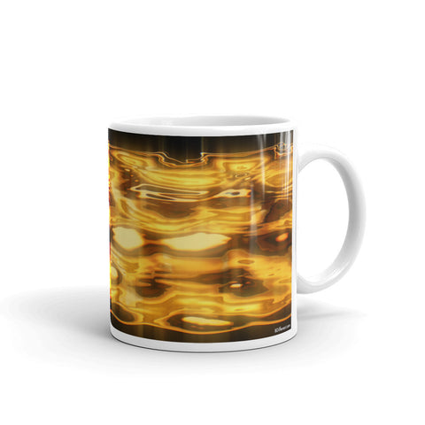 LIQUID GOLD Double-Sided Coffee Mug Tea Cup 11oz & 15oz