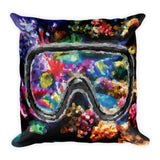 CORAL REEF Reversible Decorative Throw Pillow 18""