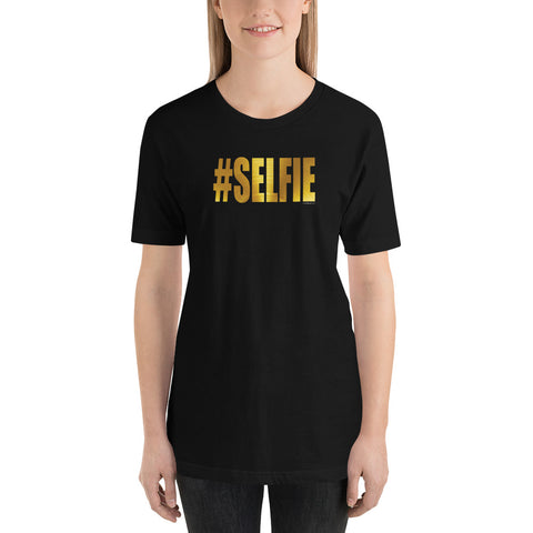 GOLDEN #SELFIE Unisex Short-Sleeve T-Shirt - Size XS-XL - 10 Color