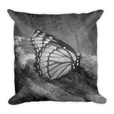 BUTTERFLY - Reversible Decorative Throw Pillow 18""