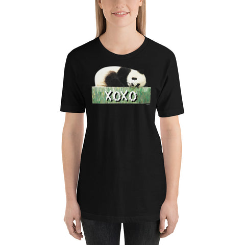 LOVE PANDA XOXO Unisex Short Sleeve T-Shirt - Size S-XL - 14 Colors