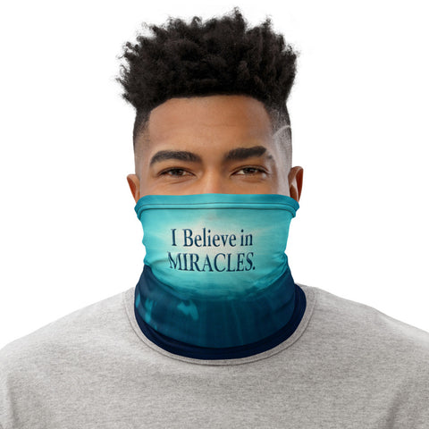 I BELIEVE IN MIRACLES - OCEAN Face Cover - Unisex - 1 Size - 1 Color