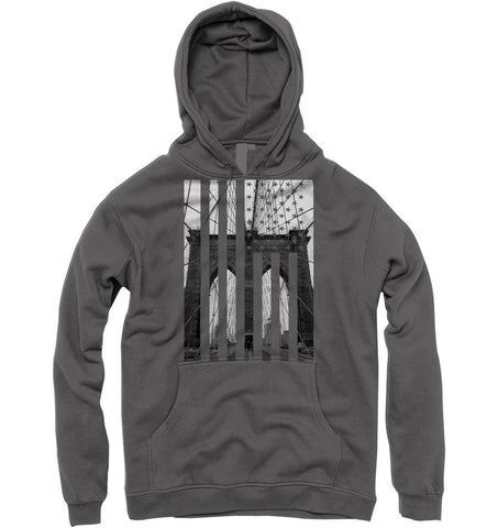 Brooklyn Bridge Flag Hoody (asphalt) - Holford soCiety Jordan T-shirt Tees