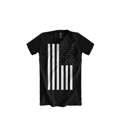 BOYS CLASSIC FLAG BLACK TSHIRT (WHITE GREY) - Holford soCiety Jordan T-shirt Tees