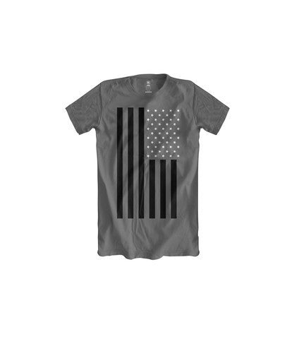 BOYS CLASSIC FLAG CHARCOAL TSHIRT (BLACK WHITE) - Holford soCiety Jordan T-shirt Tees