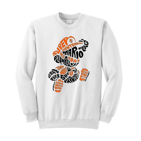 JORDAN 1 REVERSED SHATTERED BACKBOARD WHITE T SHIRT (MARIO BROS) crewneck - Holford soCiety Jordan T-shirt Tees