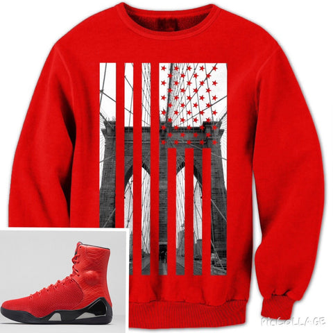 Brooklyn Bridge Flag (Red) - Holford soCiety Jordan T-shirt Tees
