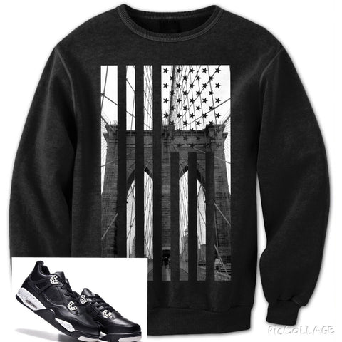 Brooklyn Bridge Flag (Black) - Holford soCiety Jordan T-shirt Tees