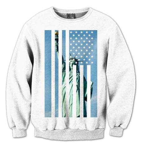 Liberty Flag Sweatshirt (White) - Holford soCiety Jordan T-shirt Tees
