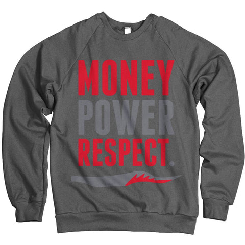 MONEY POWER RESPECT - CHARCOAL SWEATSHIRT - Holford soCiety Jordan T-shirt Tees