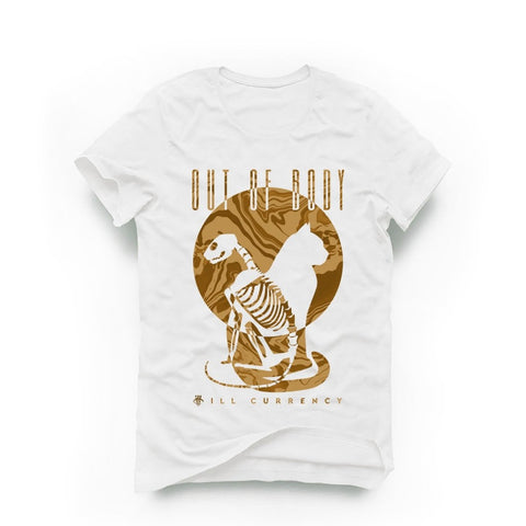 AIR JORDAN 12 PSNY WHEAT WHITE T (OUT OF BODY) - Holford soCiety Jordan T-shirt Tees