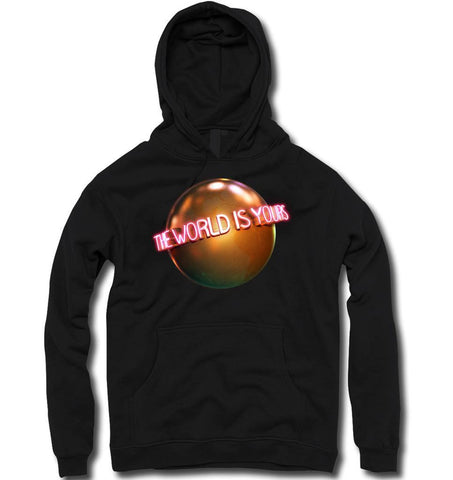 THE WORLD IS YOURS... HOODY (BLACK) - Holford soCiety Jordan T-shirt Tees