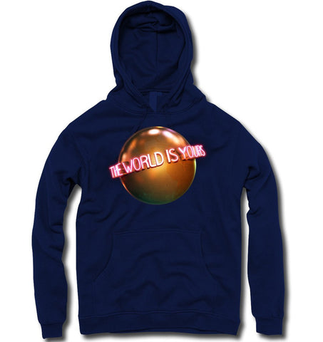 THE WORLD IS YOURS... HOODY (NAVY) - Holford soCiety Jordan T-shirt Tees
