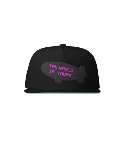 The World Is Yours... Snapback (black) - Holford soCiety Jordan T-shirt Tees