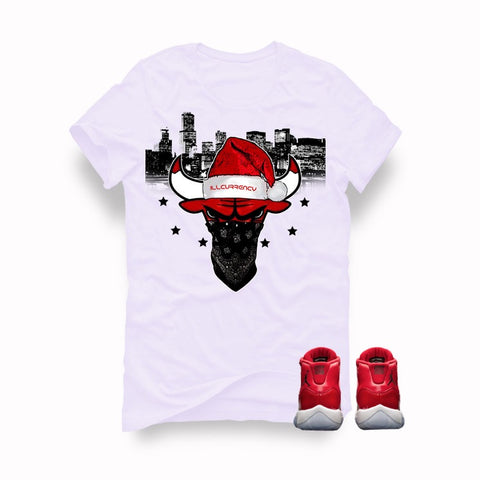 "Air Jordan 11 Gym Red ""Win Like '96"" White T (Bulls Head) - Holford soCiety Jordan T-shirt Tees"