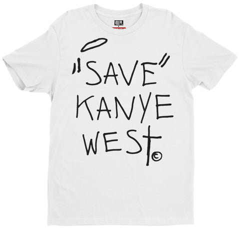 SAVE KANYE Tee (White) - Holford soCiety Jordan T-shirt Tees