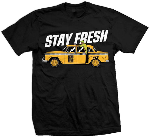 STAY FRESH - BLACK T-SHIRT - Holford soCiety Jordan T-shirt Tees