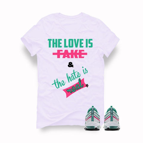 Air Max 97 South Beach White T (Love Is Fake) - Holford soCiety Jordan T-shirt Tees