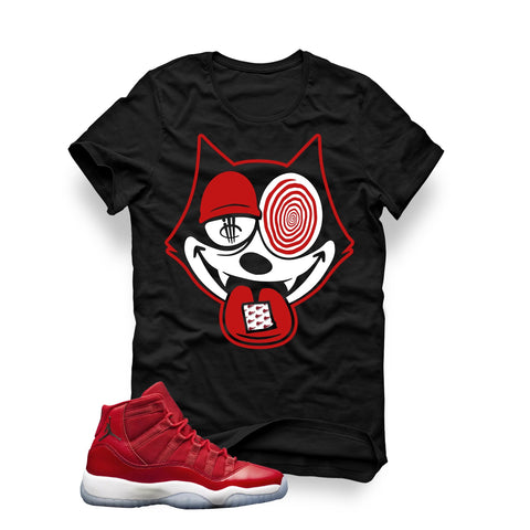 "Air Jordan 11 Gym Red ""Win Like '96"" Black T (Kick N Trip) - Holford soCiety Jordan T-shirt Tees"