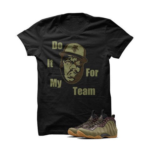 DO IT FOR MY TEAM BIGGIE OLIVE FOAMS BLACK T SHIRT - Holford soCiety Jordan T-shirt Tees