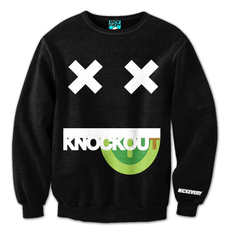 KNOCKOUT! Crewneck (black/neon-green/green) - Holford soCiety Jordan T-shirt Tees