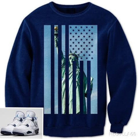 Liberty Flag Sweatshirt (Navy) - Holford soCiety Jordan T-shirt Tees