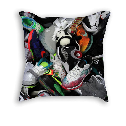 sneakerhead Pillow - Holford soCiety Jordan T-shirt Tees